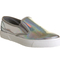 Womens office kicker slip on holographic flats | ebay
