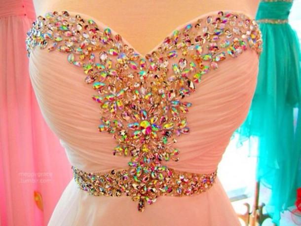 dress prom dress pink prom dress sequin dress