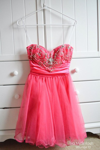 pink dress formal short dress