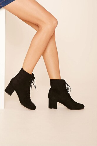 shoes suede boots boots black boots fall accessories black booties booties forever 21 classic