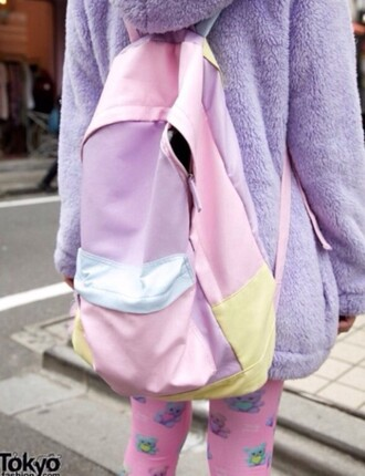 bag pastel backpack