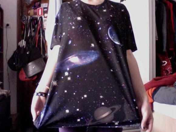 cosmic t-shirt galaxy print planets stars jupiter