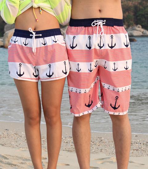 Anchor lovers beach shorts