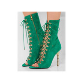 shoes,open toes,mint,green,green shoes,sexy,strappy,lace up,gold,gold shoes,lace up heels,heels,high heels
