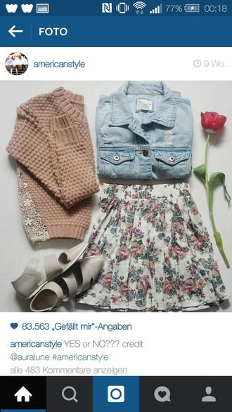 skirt cute skirt floral skirt