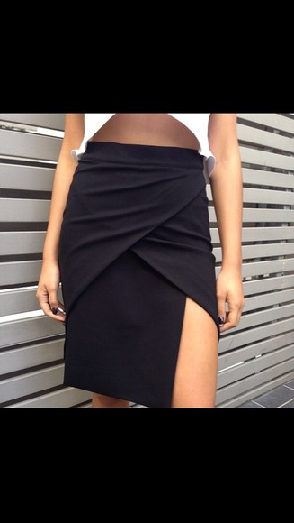 shirt short skirt modern opened skirts black skirt streetwear