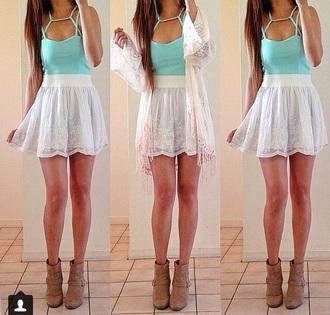 top teal torquise pretty gorgeous gorgeous dress fashion style crop tops geometric