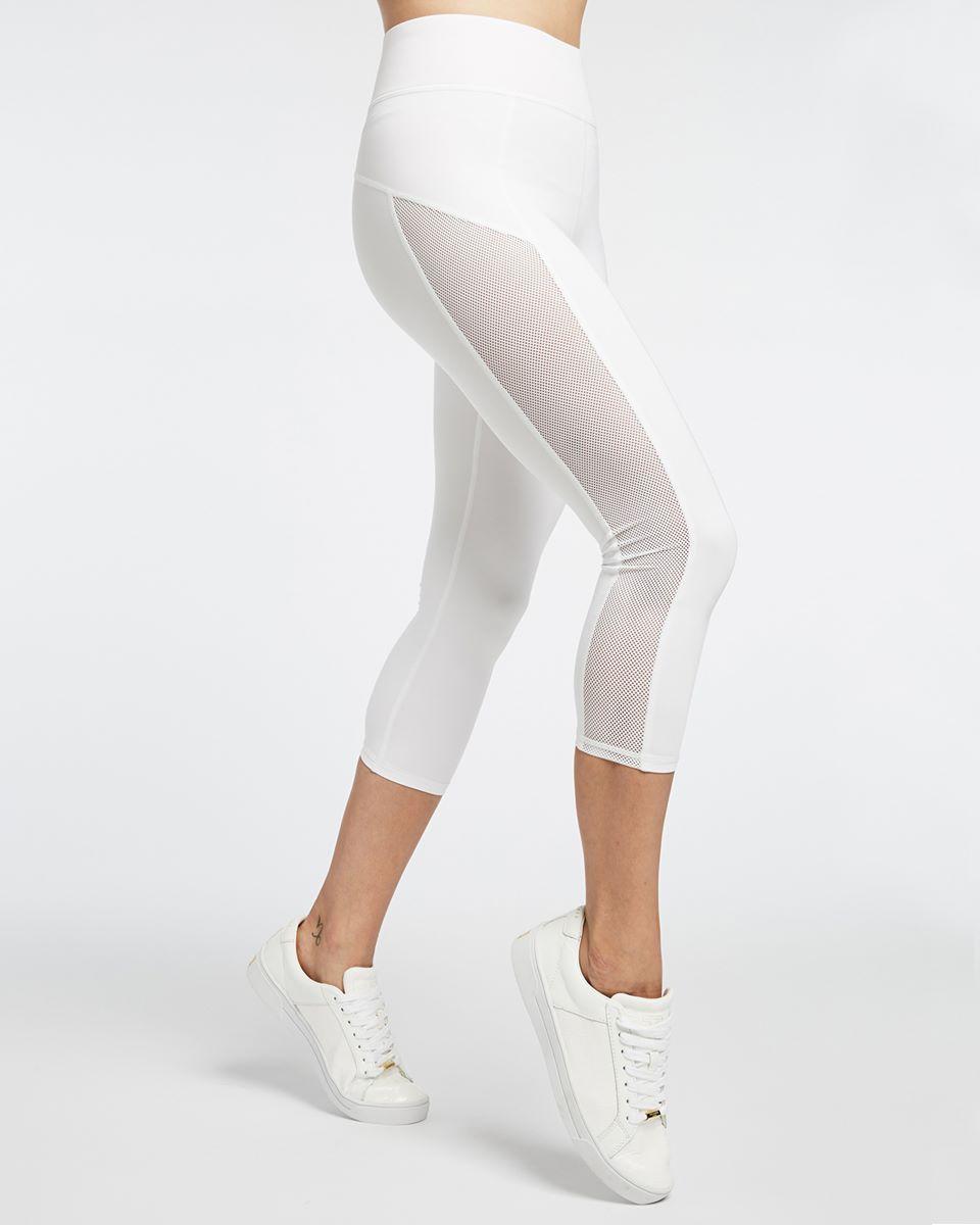 Stardust Crop Legging - White