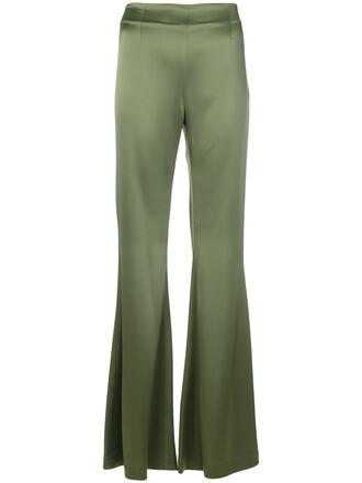 high women green pants