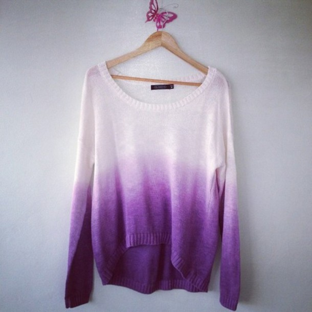 sweater purple ombre purple ombre purple sweater