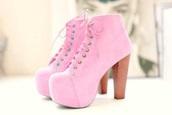 shoes,pink,bubblegum pink,jeffreycambell,booties,high heel booties