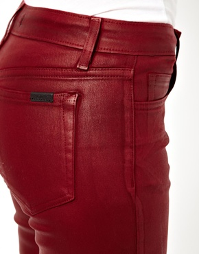 Joe's Jeans | Joe's Jeans Coloured Leather Look Skinny Jeans at ASOS