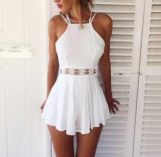 dress summer dress white summer dress jumpsuit white dress blouse