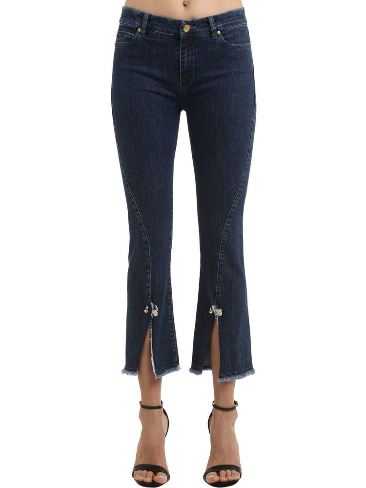 COLIAC Petunia Cropped Stretch Denim Jeans in blue