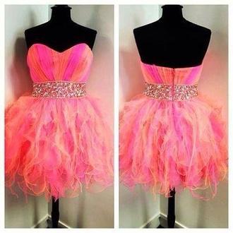 dress pink dress purple dress pink glitter dress glitter purple orange dress orange short dress beatiful