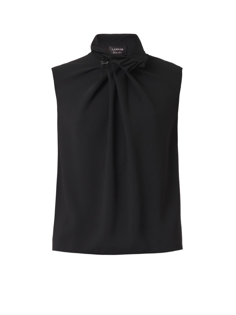 Gathered neckline sleeveless blouse | Lanvin | MATCHESFASHION.COM