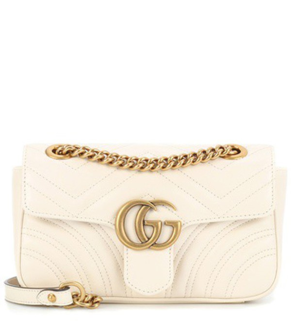 Gucci GG Marmont Mini leather crossbody bag in white