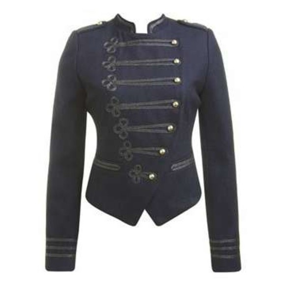 jacket gold buttons coat napoleon military jacket cute denim denim jacket