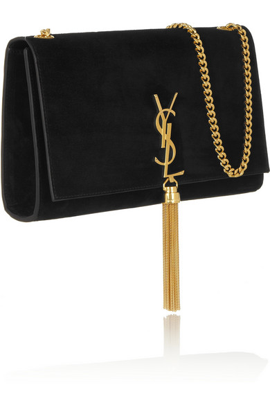 Saint Laurent | Monogramme suede shoulder bag | NET-A-PORTER.COM