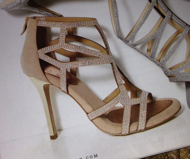 shoes gold. rhinestones