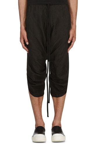 pants black harem clothes menswear cropped lounge pants