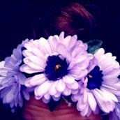 jewels,flowers,crown,flower crown,hair,headband,hippie,hipster,festival,daisy,purple,lavender,accessories