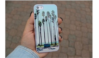 phone case blue dress nice fashion white shoes shorts lovely pepa love it wow palm tree print iphone 5 case iphone case iphone cases blue iphone 4 case