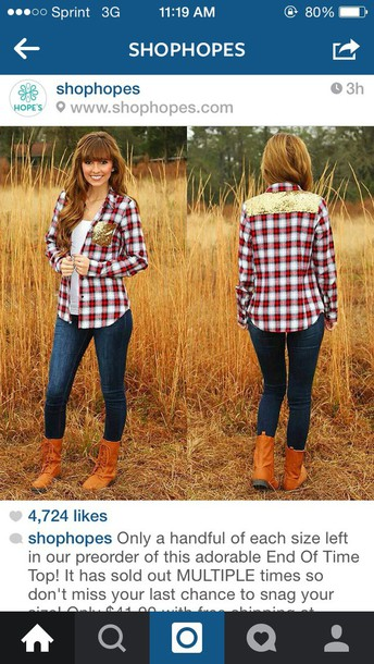 blouse plaid with gold