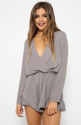 romper grey summer dress style