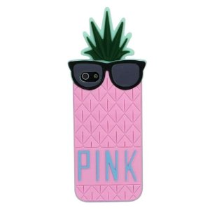 Amazon.com: Zhipingshop Hot Sale & Fruit Design Victoria Secret Lady Pineapple Skin Silicone Case Cover for Iphone 5 5g (pink): Cell Phones & Accessories