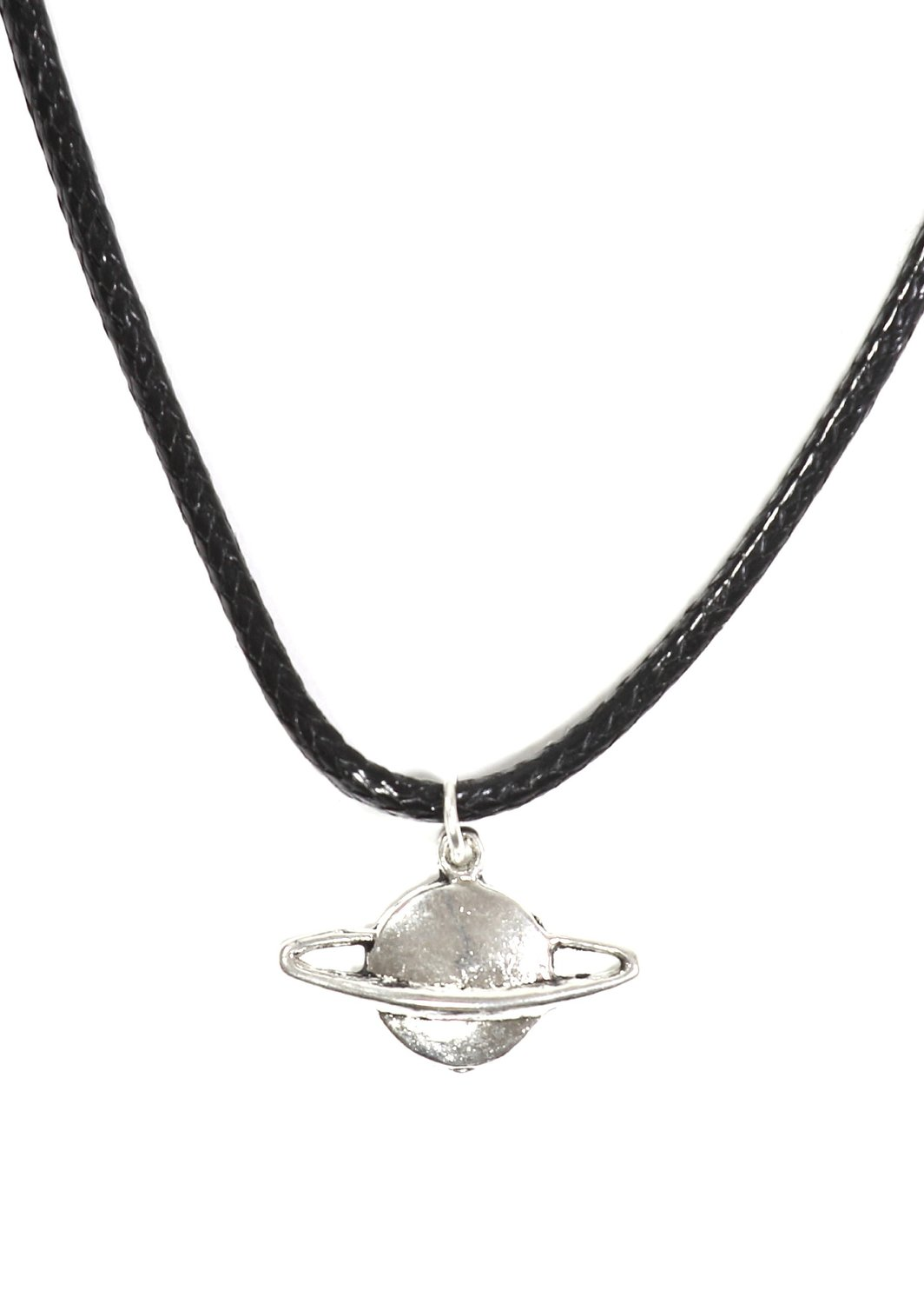 Amazon.com: planet saturn necklace outer space silver tone pendant np06 fashion jewelry: jewelry