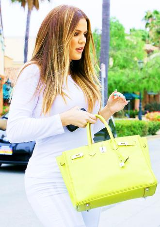 bag khloe kardashian neon yellow neon yellow
