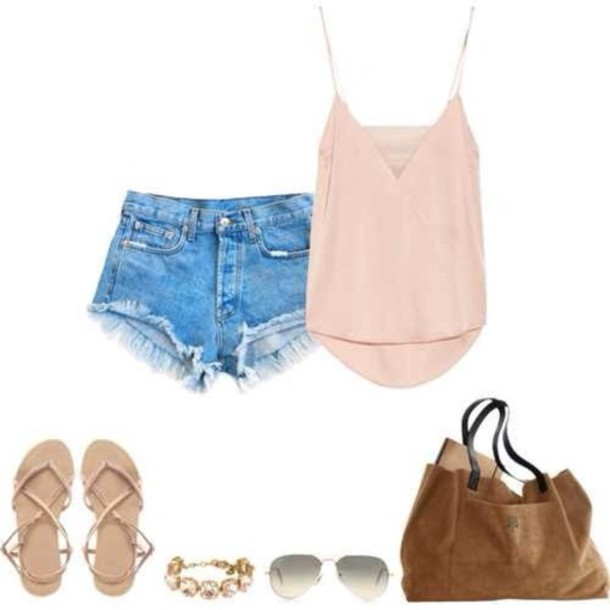 blouse clothes shorts