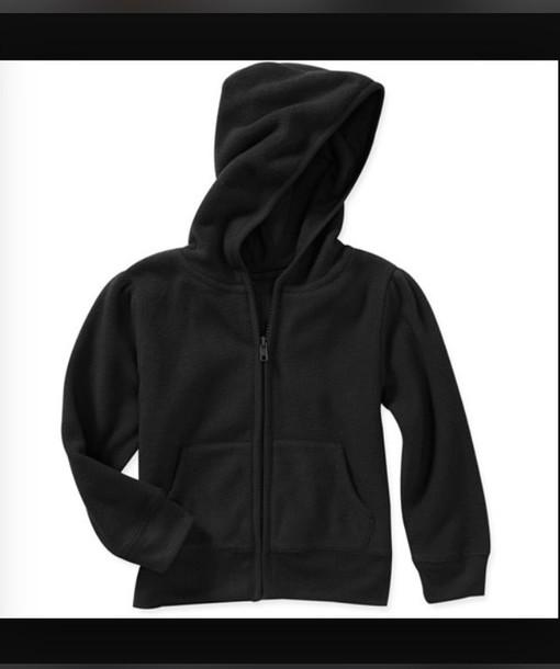 jacket hoodie black zip