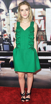 dress,green,green dress,kiernan shipka,sandals