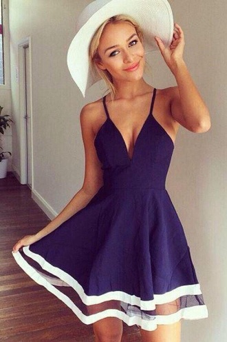 dress blue summer dress