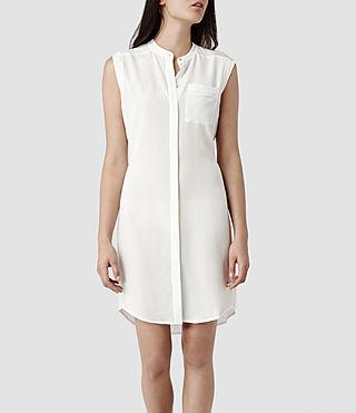 Womens Luna Shirt Dress (Chalk) | ALLSAINTS.com