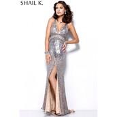 dress,platinum hair,high-low dresses,designer bag