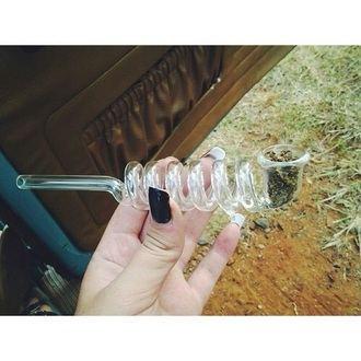 home accessory glass pipe twisty water lighter