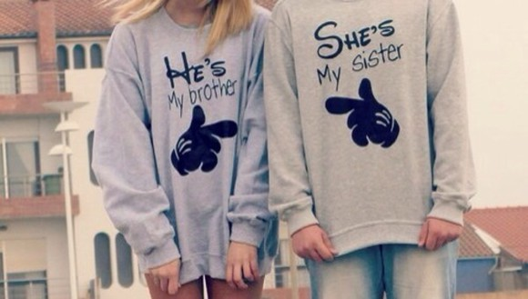 boys sweater clothes couple sweaters matching couples sisters brother fashion toast fashion vibe urban outfitters flashes of style style scrapbook girly summer sweater mickey mouse