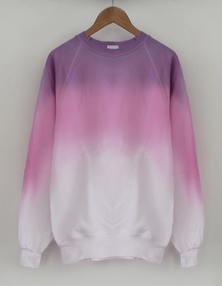 Candy purple pink mix dip dye sweater