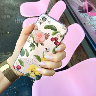 phone cover yeah bunny iphone iphone case crover cherry floral