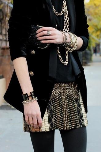 skirt silvester gold black gold and black gold and black skirt mini skirt