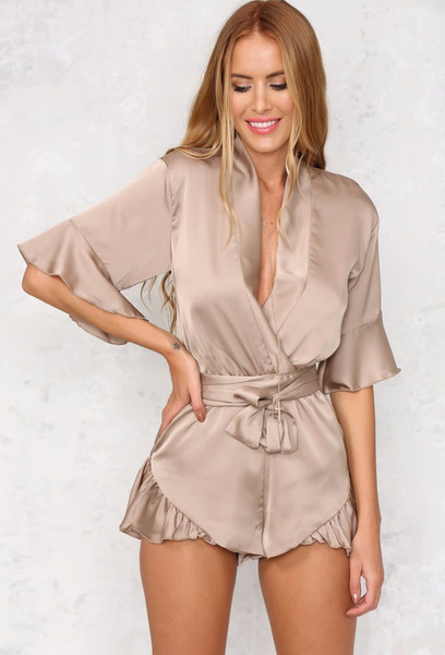 Hold Me Close Playsuit - Nude