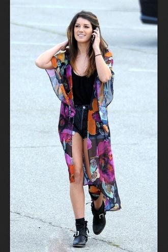 sweater shenae grimes 90210 kimono floral