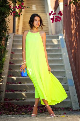 dress bright maxi dress summer dress