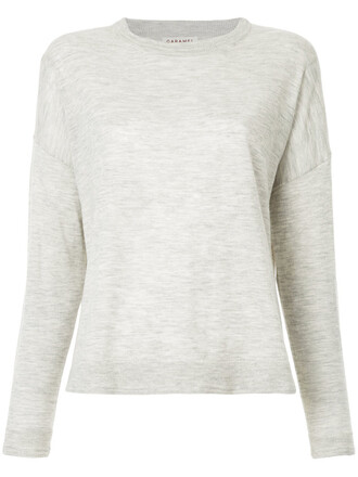 top women wool knit grey
