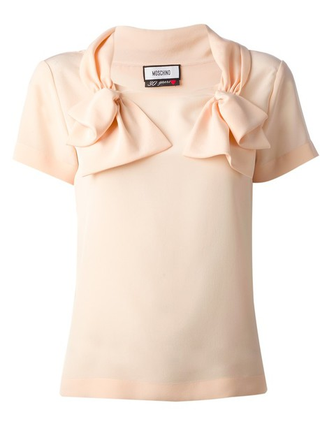 blouse bow detail blouse creme bow blouse moschino