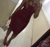 dress,burgundy dress,burgundy,faux leather,faux leather dress,leather,leather dress,bustier dress,midi,midi dress,strappy,strappy dress,bodycon,bodycon dress,party dress,summer dress,summer outfits,classy dress,elegant dress,cocktail dress,cute dress,cute,girly,girly dress,date outfit,summer holidays,birthday dress,clubwar,clubwear,club dress