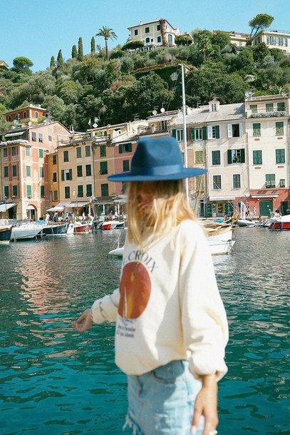 top sweatshirt pullover italy france la croix sun orange white